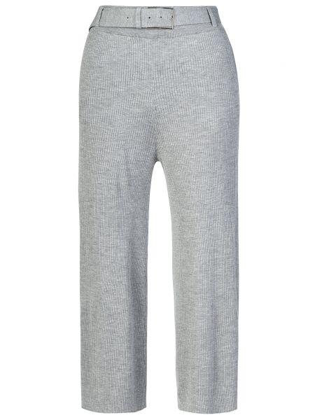 Серые брюки шерстяные Patrizia Pepe