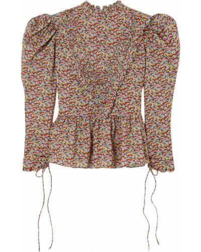 Fioletowa bluzka bawełniana Horror Vacui