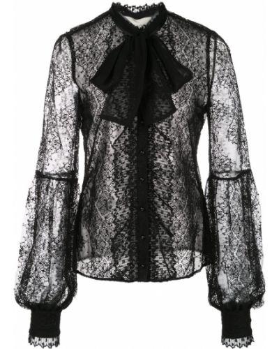 Блузка кружевная с воротником-стойкой Alexis