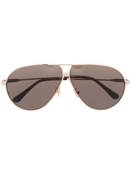 Złote oprawka do okularów Tom Ford Eyewear