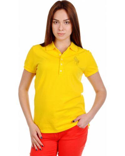Желтая футбольная футболка Ralph Lauren