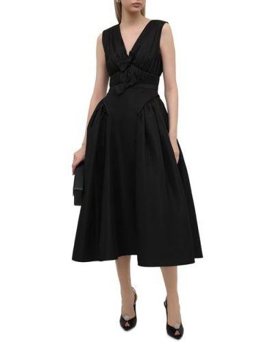 Приталенное платье миди - черное Self-portrait