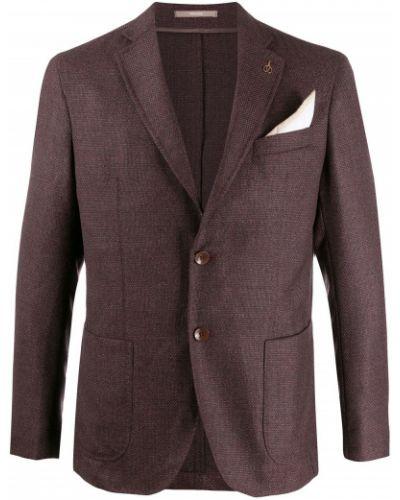 Фиолетовый прямой пиджак Paoloni
