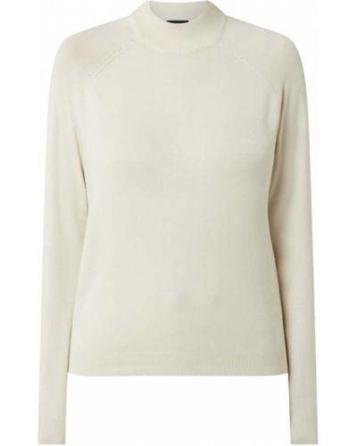 Biały sweter z wiskozy z raglanowymi rękawami Pieces
