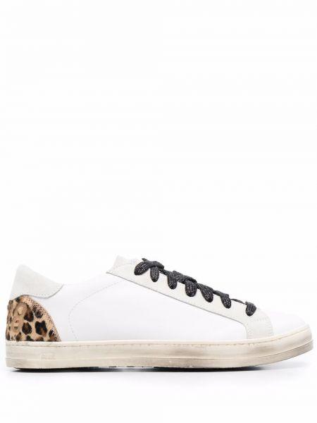 Белые кроссовки на шнуровке P448