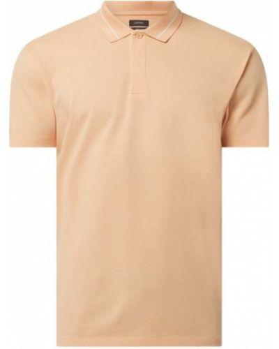Pomarańczowy t-shirt bawełniany z paskiem Esprit Collection