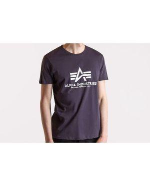 T-shirt bawełniana - granatowa Alpha Industries