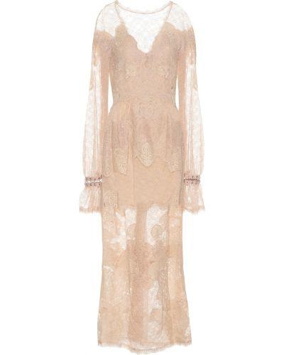 Летнее платье макси с кружевными рукавами Jonathan Simkhai