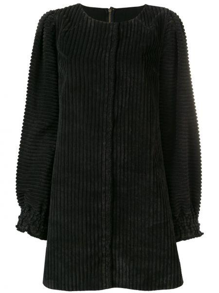 Прямое платье в рубчик с длинными рукавами винтажное Dolce & Gabbana Pre-owned