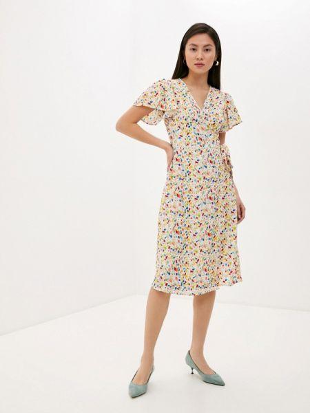 Бежевое однобортное платье Compania Fantastica