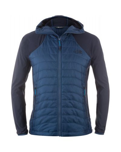 Утепленная куртка с капюшоном спортивная льняная The North Face