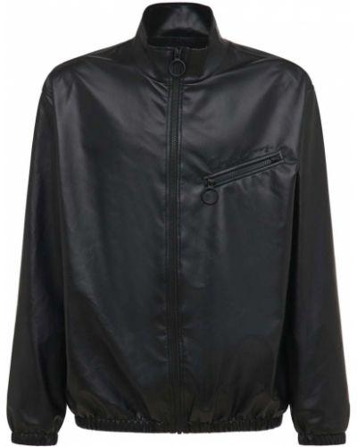Черный кожаный пиджак Opening Ceremony
