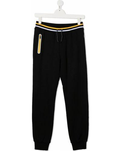 Хлопковые белые брюки с заплатками с карманами Paul Smith Junior