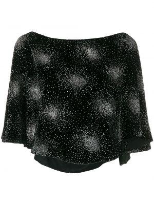 Czarna bluzka z aksamitu ciążowa Sonia Rykiel