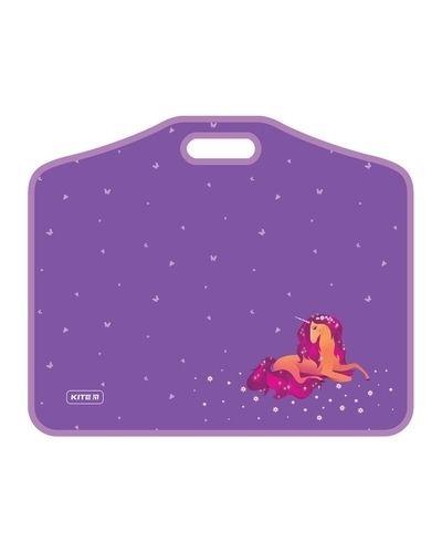 Фиолетовый портфель оверсайз на липучках Kite