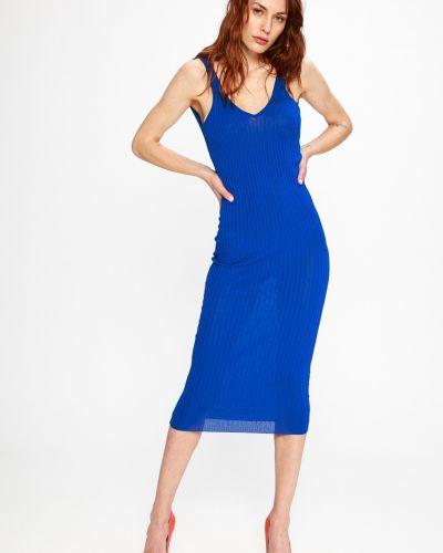 Платье миди из вискозы однотонное Sh