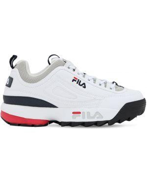 Czarne sneakersy na platformie skorzane Fila Urban