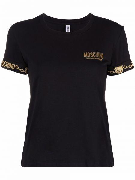 Czarny złoty łańcuszek Moschino