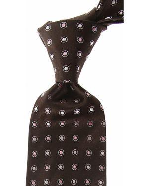Różowy krawat z jedwabiu Borrelli