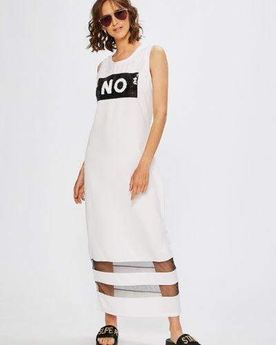 Белое платье миди Liu Jo