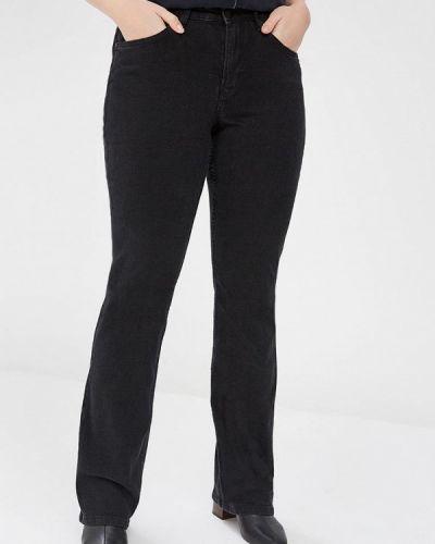 Широкие джинсы расклешенные черные Violeta By Mango