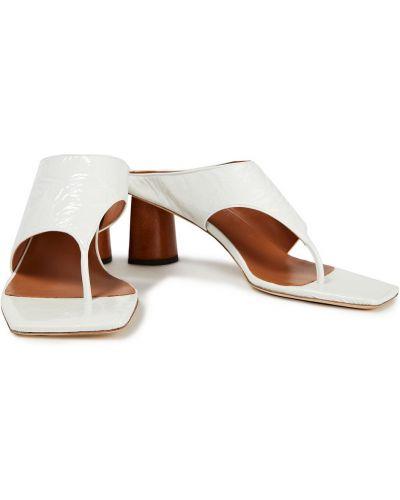 Белые открытые кожаные сандалии Rejina Pyo