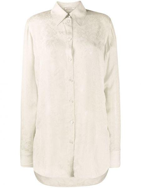 С рукавами классическая рубашка с воротником на пуговицах со вставками Nina Ricci