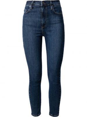 Синие облегающие зауженные джинсы классические Nobody Denim