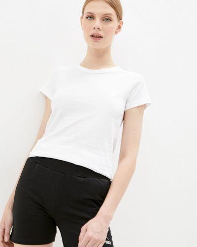 Спортивная белая спортивная футболка с короткими рукавами Plein Sport
