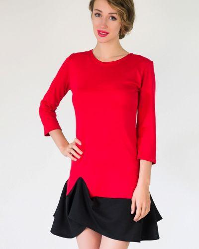 Платье осеннее красный Подіум