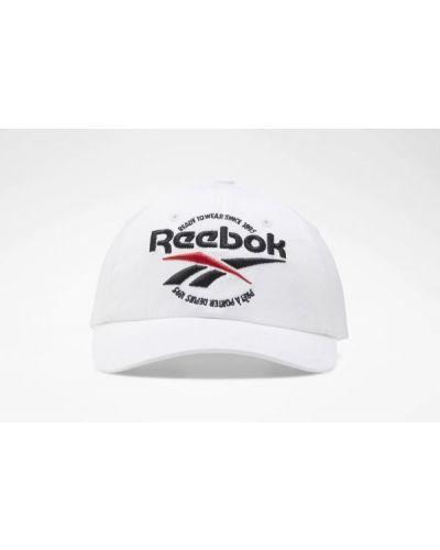 Biała czapka bawełniana Reebok