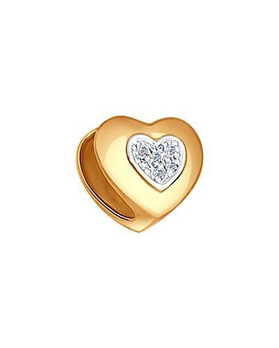 Золотая подвеска с бриллиантом золотой Sokolov