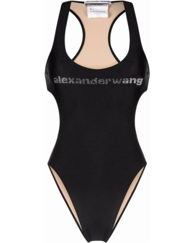 Черный купальник из эластана Alexander Wang