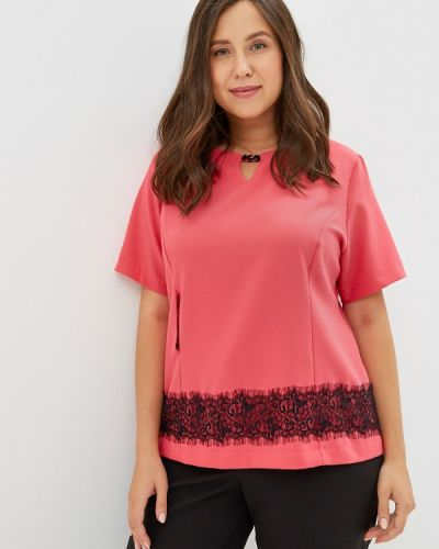 Блузка с коротким рукавом розовая Grafinia