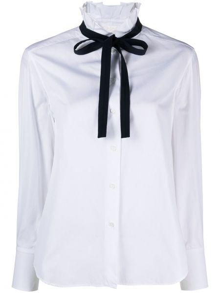 Шелковая белая блузка с воротником Chloé