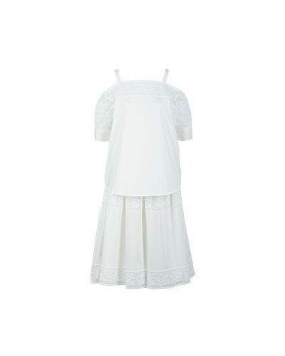 Хлопковый костюм - белый Blugirl