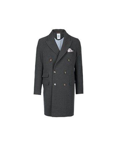 Пальто двубортное итальянское Eleventy