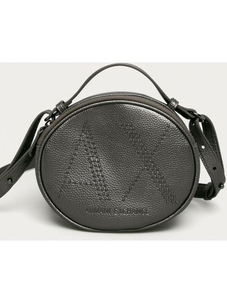 Серая сумка через плечо с карманами Armani Exchange