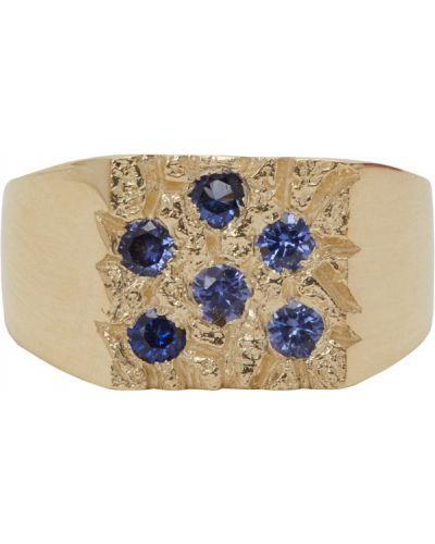 Niebieski pierścień z szafirem Bleue Burnham