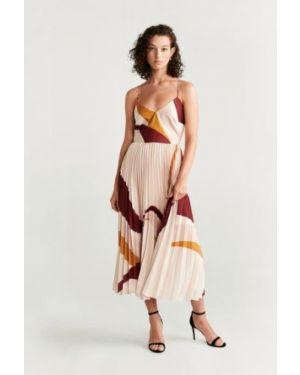 Платье миди облегающее с V-образным вырезом Mango