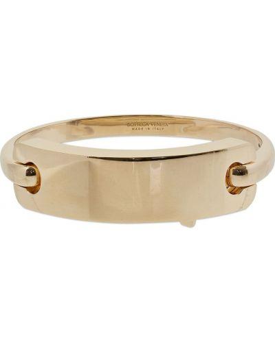 Żółta złota bransoletka ze złota pozłacana Bottega Veneta