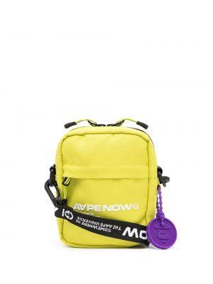 Желтая сумка из полиэстера Aape By A Bathing Ape