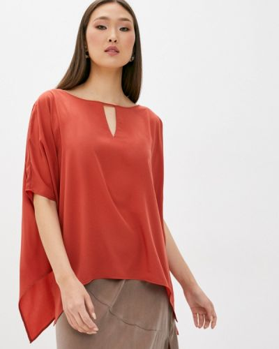 Красная блузка с короткими рукавами French Connection