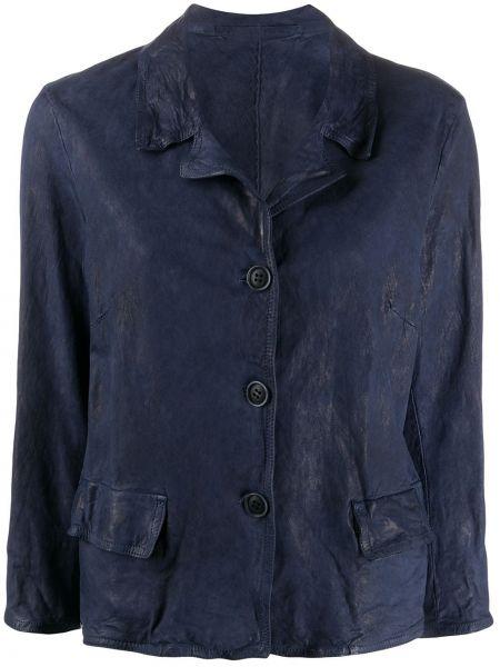 Кожаная куртка на пуговицах с карманами Salvatore Santoro