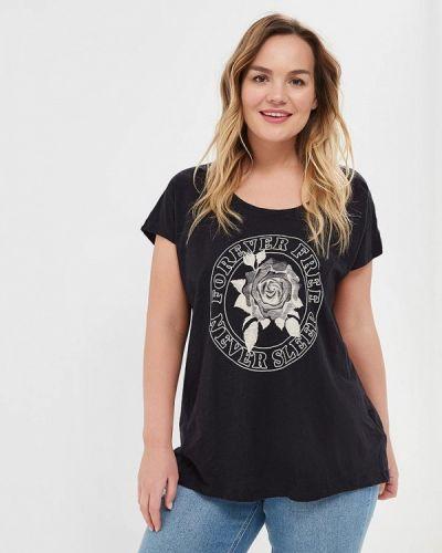 Черная футболка Zizzi
