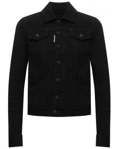 Хлопковая джинсовая куртка - черная Dsquared2