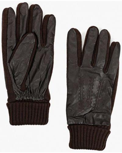 Коричневые кожаные перчатки Carpisa