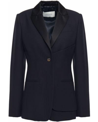 Ażurowa niebieska kurtka wełniana Cedric Charlier