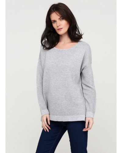 Свободный серый пуловер свободного кроя Selected