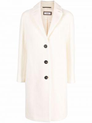 Белое прямое пальто Peserico